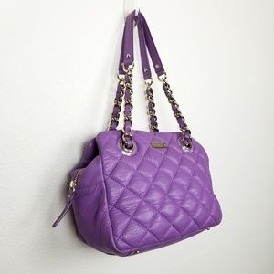Kate Spade | leather | quilted | purple | chain